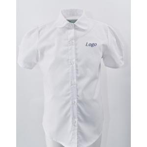 Рубашка на девочку с короткими рукавами